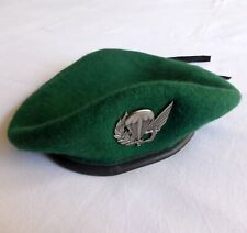 Portuguese military PARATROOPERS green beret with badge