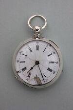 Silberne Taschenuhr mit Schlüsselaufzug , 19.Jahrhundert - Monogramm EB