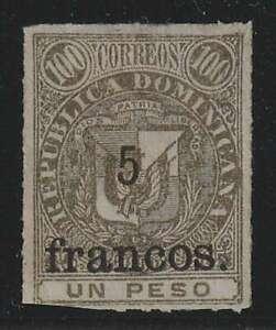 D2034: Dominican Republic #87 Unused, NG; CV $190