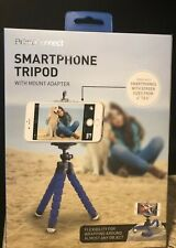 Prime Connect Smartphone Tripod Blue With Mount Adapter