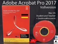 Adobe Acrobat Pro 2017 Vollversion Box, CD, Handbuch Mac Student/Teacher OVP NEU