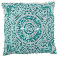 Large Mandala Euro Sham Cushion Cover 26x26 Decorative Square Pillow Case 2 Pcs