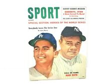 1960 October  Sport Magazine. Babe Ruth Cover Ex. Cond.