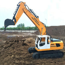 RC Excavator Shovel Remote Control Construction Bulldozer Truck Metal 6 Channels