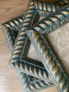Set x 3  Ornate Vintage Style Hand Painted Picture Frames