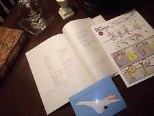 1 CONCORDE BRANIFF INTERNATIONAL (USA) ** Rare** In-Flight Menu 1979*