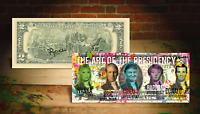 DONALD TRUMP FAMILY PRESIDENTS Banksy ART Genuine U.S. $2 Bill Signed by Rency