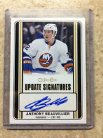 16-17 OPC O-PEE-CHEE Update Rookie RC Signatures #US-AB ANTHONY BEAUVILLIER