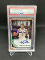 2018 Panini Donruss Giannis Antetokounmpo /10 Gold Dominator Signature PSA9 POP1