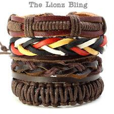 Bohemian Vintage style Genuine Leather Stacked Bracelets
