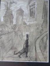 Edy-Legrand 1892-1970 -Lavis original/gouache-Faust GOETHE-1942--cadre-drawing