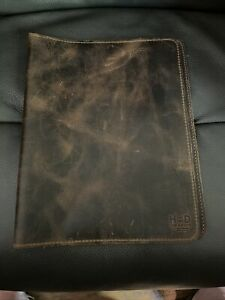 leather notebook cover by Hide and Drink 11.75in x 9.25in