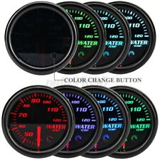 "Universal 2"" 52mm Black 7 Color LED Water Coolant Temp Temperature Gauge Meter"