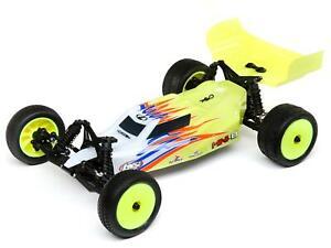 Mini-B: 1/16th 2wd Buggy Yellow/White C-LOS01016T3