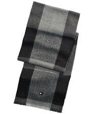 Tommy Hilfiger MEN'S Gray Plaids & Checks Acrylic OVERSIZED BUFFALO PLAID  Scarf
