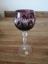 Katharinenhütte Echt Bleikristall über 24% Glas, Weinglas Lila