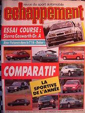 revue ECHAPPEMENT 1986 FORD SIERRA COSWORTH GR.A / PEUGEOT ET LE DAKAR / R.A.C