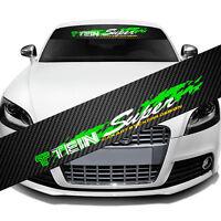 """JDM TEIN Super Car Window Windshield Carbon Fiber Vinyl Banner Decal Sticker 51"""""""