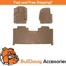 SMARTLINER Floor Mats for F-150 SuperCab With Front Bucket Seats Tan F150