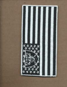 NEW 2 X 4 INCH OAKLAND RAIDERS FLAG IRON ON PATCH FREE SHIPPING P1