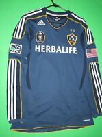 LA galaxy formotion long sleeve soccer jersey adidas authentic Large L