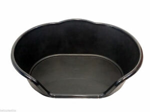 EXTRA LARGE XL PLASTIC BLACK DOG / CAT / PET BED, BASKET - HEAVY DUTY MADE IN UK