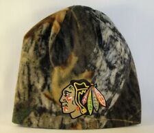 Chicago Blackhawks NHL Zephyr Mossy Oak Camo Fleece Beanie Hat