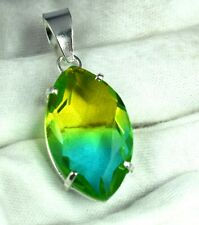 925 Sterling Silver Pendant 33.90 Ct Marquise Alexandrite Gems Certified H3650