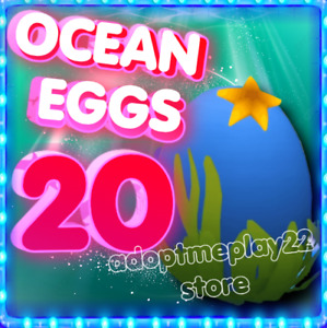 Ocean Egg x 20 Roblox Adopt Me new ocean  eggs  ! 🐬🐬💙