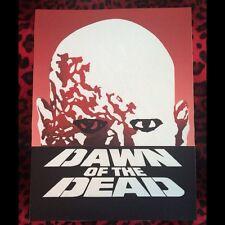 "Dawn of the Dead Back Patch!  11"" X 14.5"" Horror Punk Rockabilly Psychobilly"