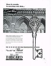 """PUBLICITE ADVERTISING 054  1960  BRICARD   serrurerie """" la clé"""""""