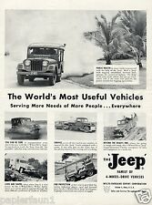 Jeep Reklame von 1955 Willys Overland Werbung ad 4 wheel drive Geländewagen