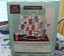 Craft Acrylic Paint Storage Rack Organizer Wire Carousel Revolving New holds 112