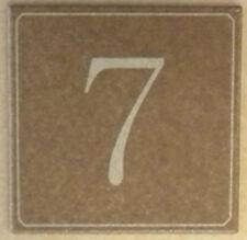 Numero civico inciso su piastrella di ceramica 10x10 cm
