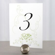Personalized Heart Filigree Wedding Table Numbers