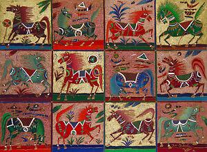 "Yuri Gorbachev Original  Masterpiece  Painting ""12 Horses""  oil on canvas, gold"