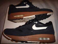 Nike AIR MAX 1 Premium 2012 VELA NERA E NOCCIOLA TAGLIA 8 Deadstock!!!