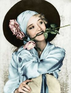 8x10 Print Marian Marsh Beautiful Colorized Portrait by Elmer Fryer 1932 #EFMM