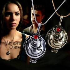 """The Vampire Diaries"" Elena Gilbert Silver/Gold Locket/Pendant & Necklace Set"
