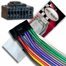 Wire Harness for Select JVC Stereos 16 pin Black - Plugs into back of stereo