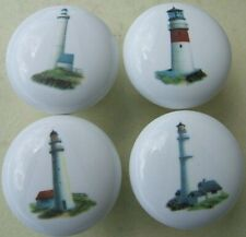 Cabinet Knobs W/ Lighthouse Light house #2 (4)