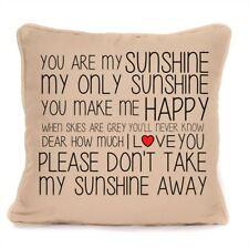 You Are My Sunshine Lyrics Cushion With Pad Included