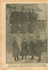 Amiraux Amiral Émile Guépratte Fournier Général Baumann WWI 1916 ILLUSTRATION