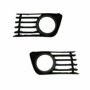 For Toyota Prius 2004-2009 Front Bumper Fog Light Covers Lower Grille Set Black