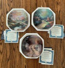 Thomas Kinkade Inspirations Decorate Plates Set Of 3