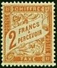 "FRANCE STAMP TIMBRE TAXE N° 41 "" TYPE DUVAL 2F ROUGE-ORANGE "" NEUF x TB"