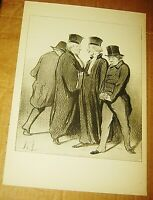 HONORE DAUMIER LITHOGRAPH LAW & JUSTICE BOOK PRINT SIGNED LAWYER LES GENS DE
