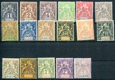 GABON 1904 Yvert 16-32 * TADELLOS SATZ 520€(S3742