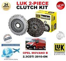 PER OPEL MOVANO B 2.3 CDTI + FWD Kit frizione 2010-on POI LUK 2 pezzi Qualità OE