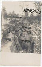 Soldaten im Schützengraben Gewehre Stellung Graben Postkarte 1 WK